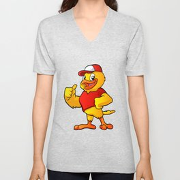 yellow bird Unisex V-Neck