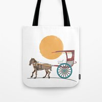 philippines Tote Bags featuring The Philippines' Kalesa by Owen Ballesteros
