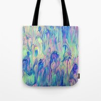 northern lights Tote Bags featuring Northern Lights by Meg O Studio