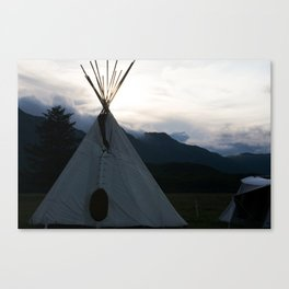 Teepee Campout Canvas Print