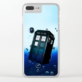 Tardis And Bubble Clear iPhone Case
