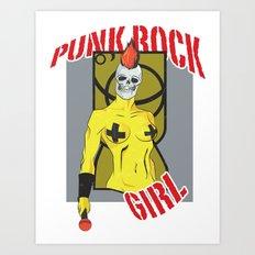 Punk rock Girl Art Print