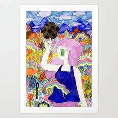 Bird Girl Art Print
