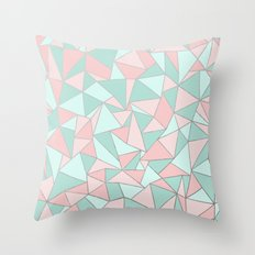 Ab Out Mint and Blush Throw Pillow