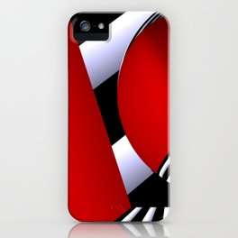 red white black -22- iPhone Case