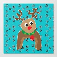 Santa's Reindeer Canvas Print