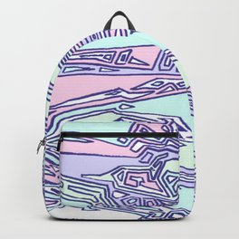 Purple Crazy Hand Drawn Pattern Backpack