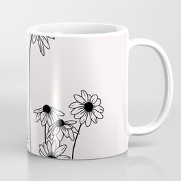 Daisy flowers illustration - Natural Coffee Mug
