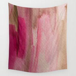 Blush: a pretty and gentle watercolor piece in pinks and browns Wall Tapestry