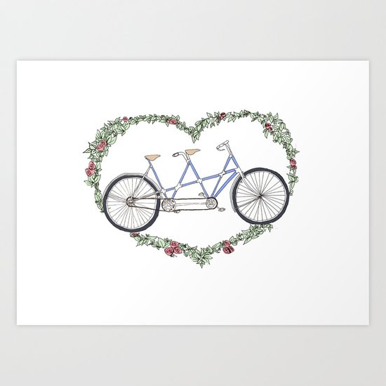 A bicycle made for two Art Print