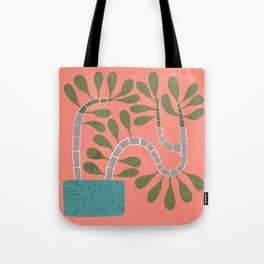 Potted Succulent on Coral Tote Bag