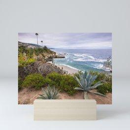 View from cliffs in Laguna Beach, CA Mini Art Print