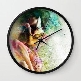 Self-Loving Embrace Wall Clock