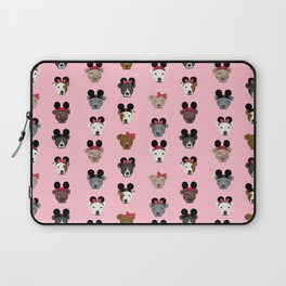 pitbull mouse ears theme park gifts Laptop Sleeve
