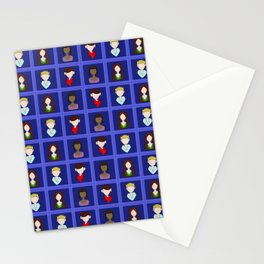 Checkered Merlin - Blue Stationery Cards