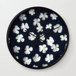 White petals 5 Wall Clock