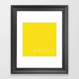 #F9E017 [hashtag color] Framed Art Print