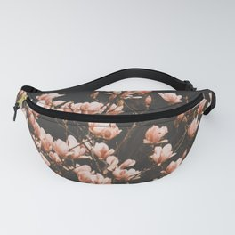 Blush Pink Magnolia Flowers Fanny Pack