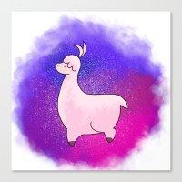 alpaca Canvas Prints featuring Alpaca by Eriboo