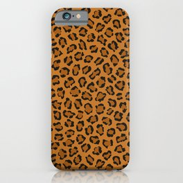 Dark leopard animal print iPhone Case