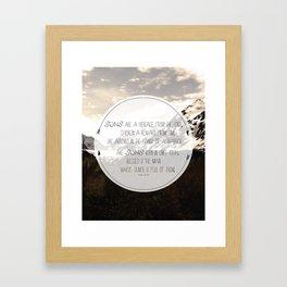 Psalm of Sons Framed Art Print