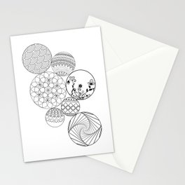 Mandalas, circles and flowers Stationery Cards