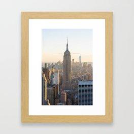 Golden New York Framed Art Print