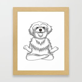 Paws and Meditate Framed Art Print