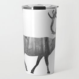 Moose Silhouette | Forest Photography Travel Mug
