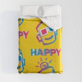 3D HAPPY Duvet Cover