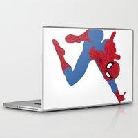 spider man Laptop & iPad Skins featuring Spider-Man by Valiant