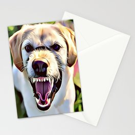 Mean Aggressive Dog Stationery Cards