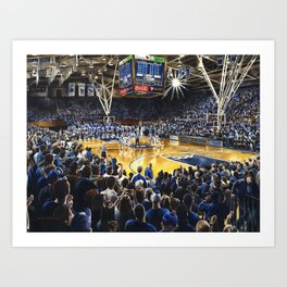 Tip-off, UNC at Duke Art Print