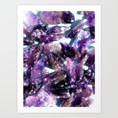 Pure Amethyst  Art Print