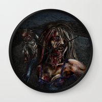 zombies Wall Clocks featuring Zombies!! by Shyniester