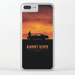 KNIGHT RIDER Clear iPhone Case