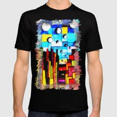 Abstract Autumn Landscape Black 2X-LARGE Mens Fitted Tee