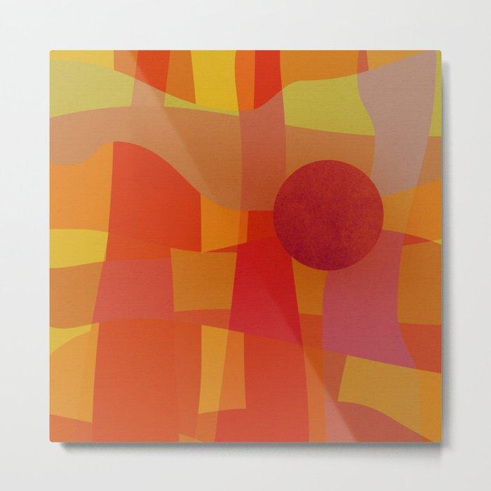 Red Hot Sun Metal Print