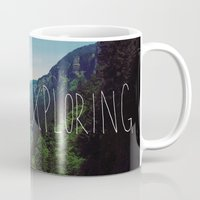 never stop exploring Mugs featuring Never Stop Exploring by Leah Flores