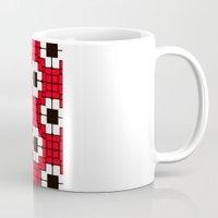 Retro Mosaic Red & Black Coffee Mug