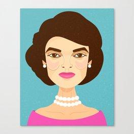 Jackie Onassis Canvas Print
