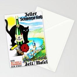 Vintage Zeller Katz Rhine River Valley Wine Bottle Label Print Stationery Cards