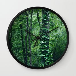 A Tree Grows in the Woods Wall Clock