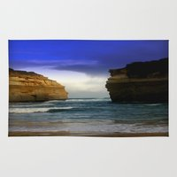 giants Area & Throw Rugs featuring Between the sea Giants by Chris' Landscape Images & Designs