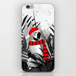 Holidays Parrot Black and White Tropical iPhone Skin