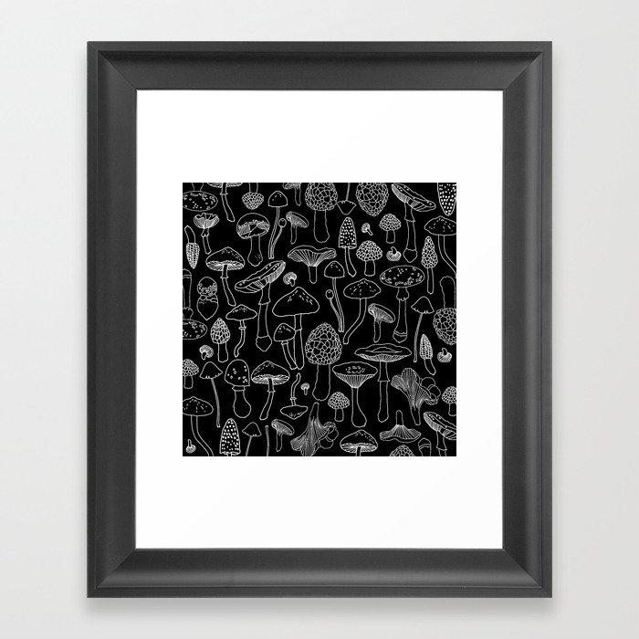 Marcella Mushrooms Gerahmter Kunstdruck