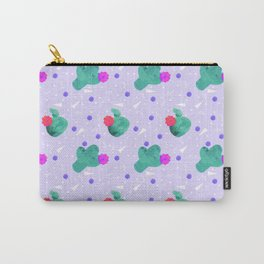 Hello Cactus Lavender Background Carry-All Pouch