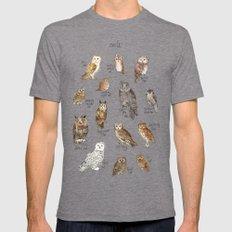 Owls Mens Fitted Tee Tri-Grey MEDIUM