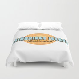 Bainbridge Island - Washington Sate. Duvet Cover