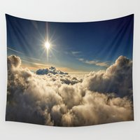 clouds Wall Tapestries featuring clouds by 2sweet4words Designs